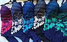 Женский купальник сплошной на большие размеры с голубым цветком, фото 2