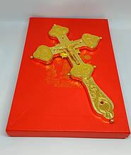 Хрест розп'яття з металу з позолотою