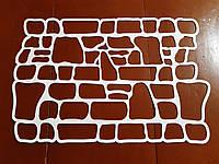 Многоразовый трафарет из пластика каменная кладка (72×42 см) трафарет для фундамента