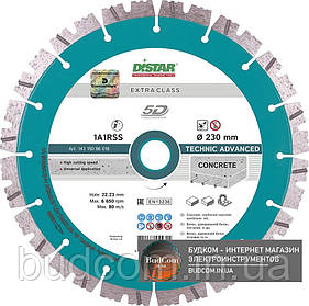 Алмазный диск Distar 1A1RSS/C3-H 232x2,6/1,8x12x22,23-16 Technic Advanced