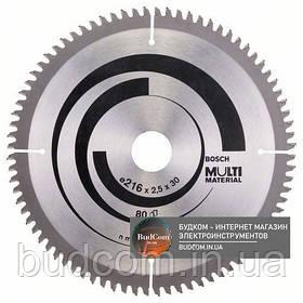 Пильный диск Bosch Multi Material 216×2,5×30, 80 HTLCG