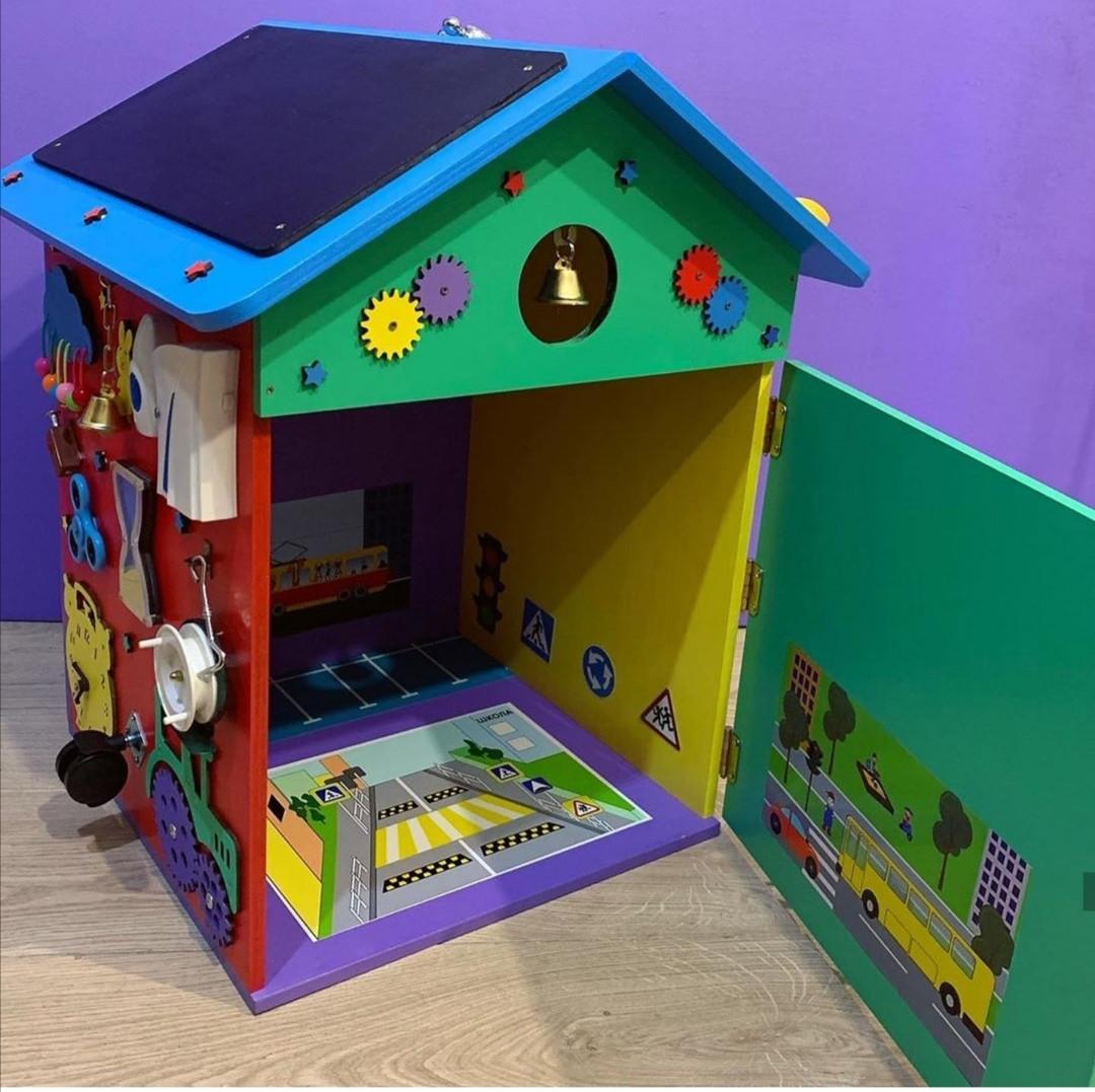 """Бизидом МЕГА, домик для развития ребенка 60×40×40 см """" Домик Великан"""" цветной"""