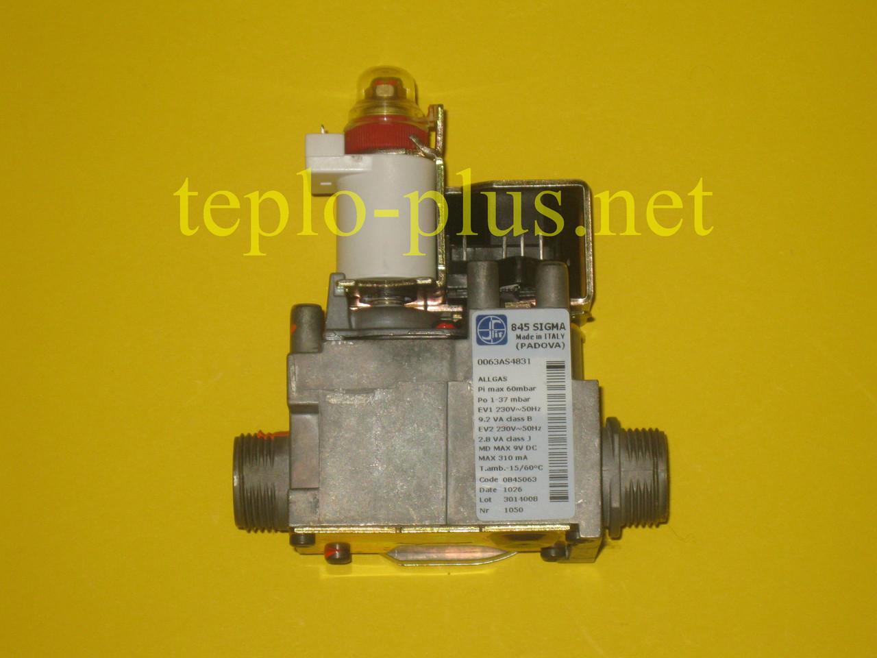 Газовый клапан 845 SIGMA 0.845.063 Baxi, Westen, Roca Neobit, Hermann, Immergas