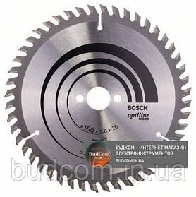 Пильный диск по дереву Bosch Optiline Wood 160×2,6×20 48 ATB