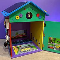 """Бизидом МЕГА, домик для развития ребенка 60×40×40 см """" Домик Великан"""" цветной, фото 6"""