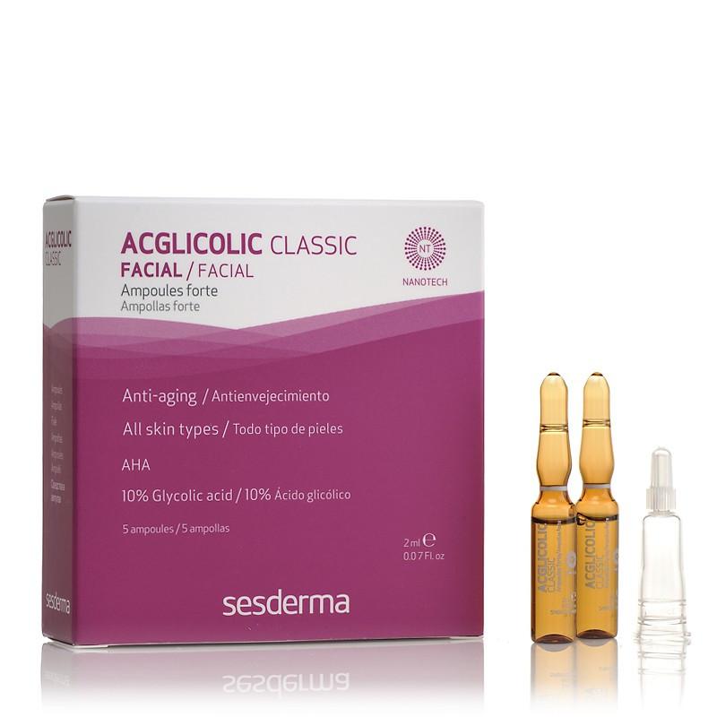 Омолаживающие увлажняющие ампулы с гликолевой кислотой SESDERMA ACGLICOLIC