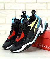Женские кроссовки Puma Thunder Spectra Black (Пума Гром чёрные)