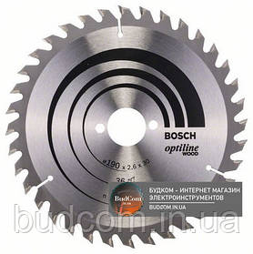 Пильный диск по дереву Bosch Optiline Wood 190×2,6×30, 36 AT