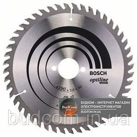 Пильный диск по дереву Bosch Optiline Wood 190 мм 48 зубов