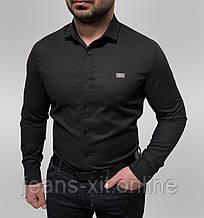 Рубашка Чол. 48(р) чорний 1818403 Philipp Plein Туреччина Осінь-B
