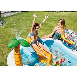"""Детский надувной игровой центр бассейн Intex 57162 """"Веселая рыбалка"""" 218 см х 188 см х 99 см"""