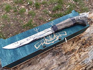 Нож финка   ручная работа  Ф7 ,чехол кожа в подарочной коробке