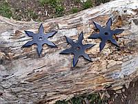 Набор звездочек шестиконечных черных  метательных 3 шт