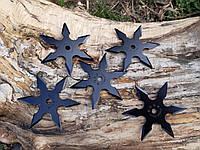 Набор звездочек шестиконечных черных  метательных 5 шт