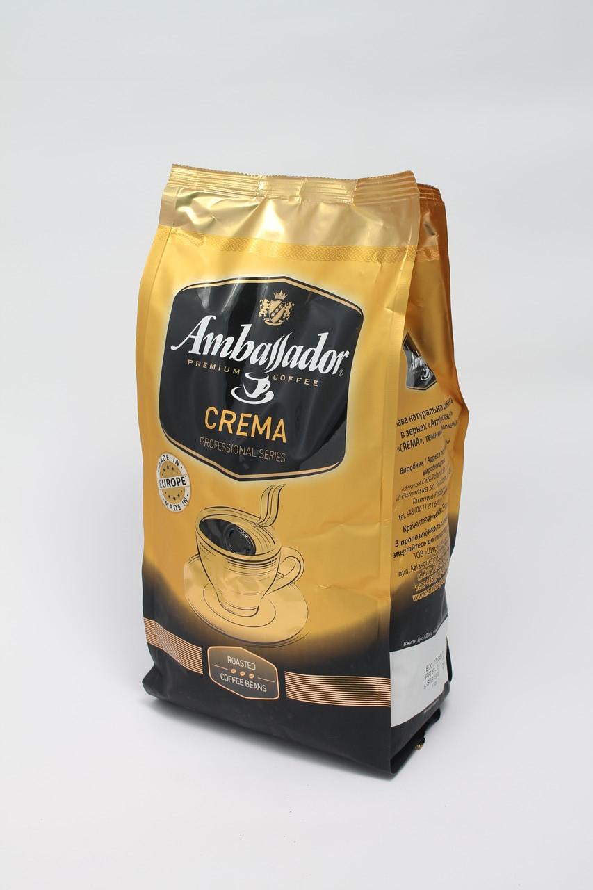 Кофе в зернах Ambassador Crema 1 кг ( 1000 г ) 60% Арабика 40% Робуста