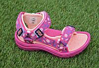 Стильные детские сандалии сандали для девочки розовые р28-33