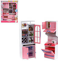 Игрушечная кухня  ( шкафчики,плита,микроволновка )