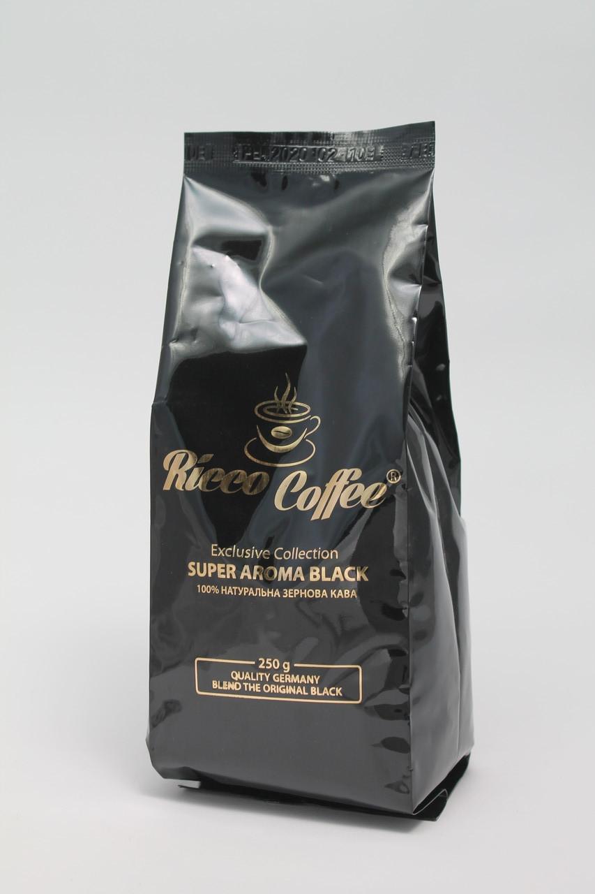 Кофе в зернах Ricco Coffee Super Aroma Black зерна кофе 250 г