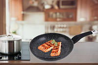 Сковорода UNIQUE UN-5134 22 см граніт темний, фото 1