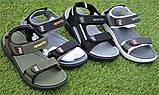Спортивные детские сандалии аналог Nike найк серые р31-36, копия, фото 2