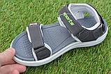 Спортивные детские сандалии аналог Nike найк серые р31-36, копия, фото 7
