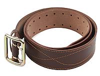 Ремень мужской Партупея армейский кожаный цвет коричневый пряжка - латунь