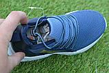 Детские модные кроссовки Adidas Blue адидас синий р31-36, копия, фото 5