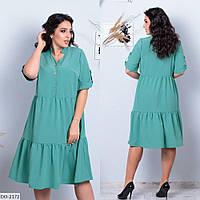 Легкое удобное женское платье свободного кроя размеры 48-54 арт 837
