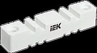Изолятор шинный плоский ИШП 2P для шин 5мм и 10мм 180мм IEK