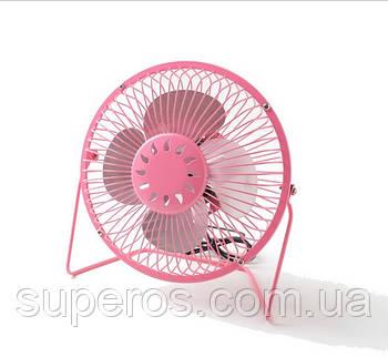 Настольный USB вентилятор (розовый)