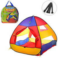 Палатка для детей M3306  пирамида, 112*114*115см, вход на липучке, колышки 4шт, в сумке 40*39см