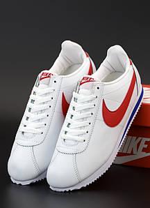 Мужские кроссовки Nike Cortez Basic Leather White (Найк Кортез) 44