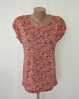Женская футболка ПОЛУБАТАЛ с цветочным узором! В остатке 48 размер!, фото 1