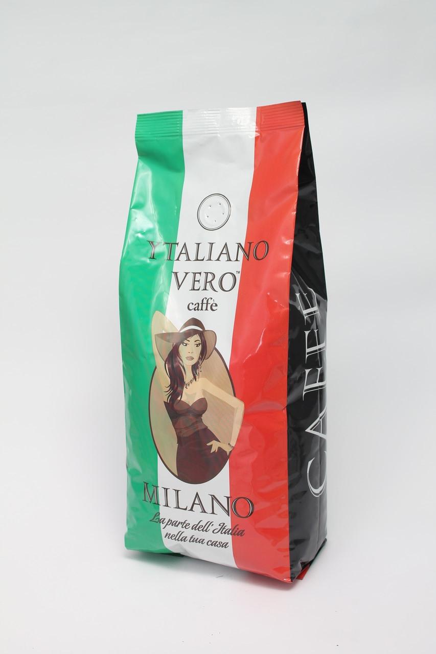 Кофе в зернах Italiano Vero Milano 1 кг 50% Арабики  50% Робусты