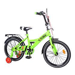 """Велосипед 2-х колісний 18"""" EXPLORER T-21819 green з дзеркалом, багажником, ручним гальмом у кор."""