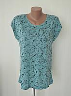 Женская футболка ПОЛУБАТАЛ с цветочным узором 48 размер, фото 1