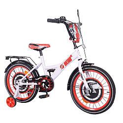 """Велосипед 2-х колісний 18"""" TILLY Hero T-218212/1 white з дзеркалом, багажником, ручним гальмом у кор."""