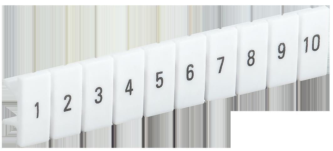 Маркеры для КПИ-2,5мм2 с нумерацией №№ 1-10 IEK