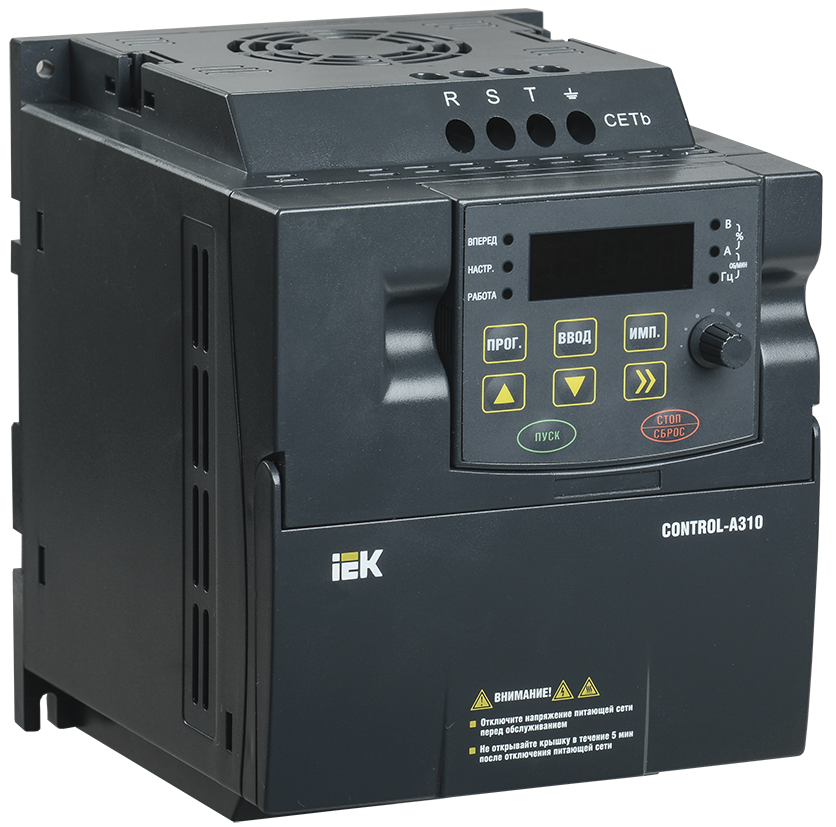 Перетворювач частоти CONTROL-A310 1Ф 220В 0,4 кВт 2A IEK