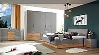 Спальня Linz MiroMark дуб вотан / серый