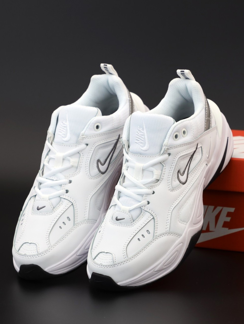 Мужские кроссовки Nike M2K Tekno White (Найк Техно Белые)