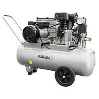 Компресор двоциліндровий ремінною 2.5 кВт 335л/хв 10бар 50л (2 крана) Sigma (7044121)