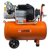 Компресор V 2.5 кВт 435л/хв 8бар 50л (2 крана) Grad (7043945)