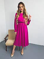 Женское стильное приталенное платье из штапеля, фото 1