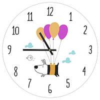 Часы настенные круглые в детскую, 36 см Собака
