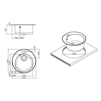 Кухонная мойка Apell Circum CIVIFRIAC Satin, фото 2