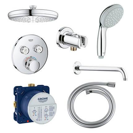 Душевая система скрытого монтажа с термостатом на 2 потребителя Grohe SmartControl 34614SC0, фото 2