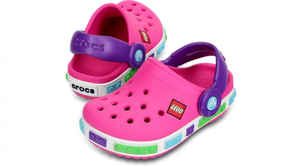 Кроксы детские Crocs Crocband LEGO розовые (J) разм.