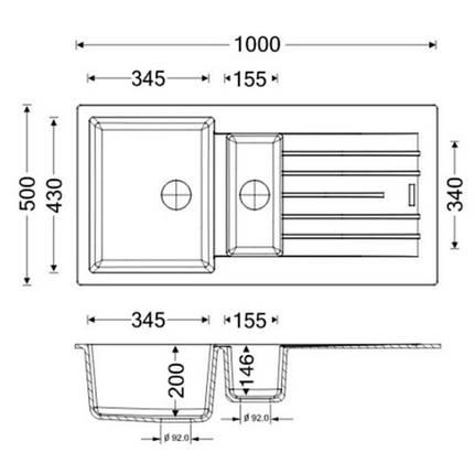 Кухонная мойка Apell Pietra Plus PTPL1002AL Alluminium, фото 2