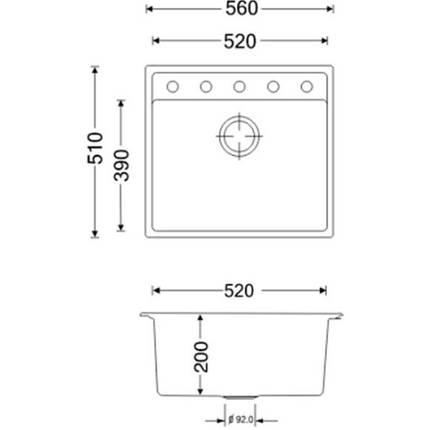 Кухонная мойка Apell Pietra Plus PTPL560GO Oats granit, фото 2